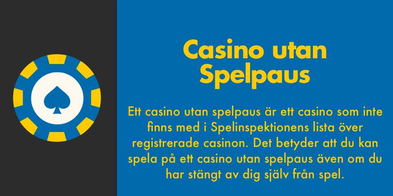 På ett casino utan spelpaus kan man spela trots avstängning
