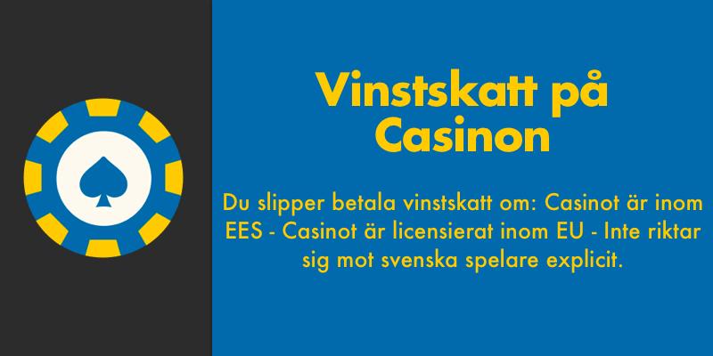 Kort om vinstskatt på casinon